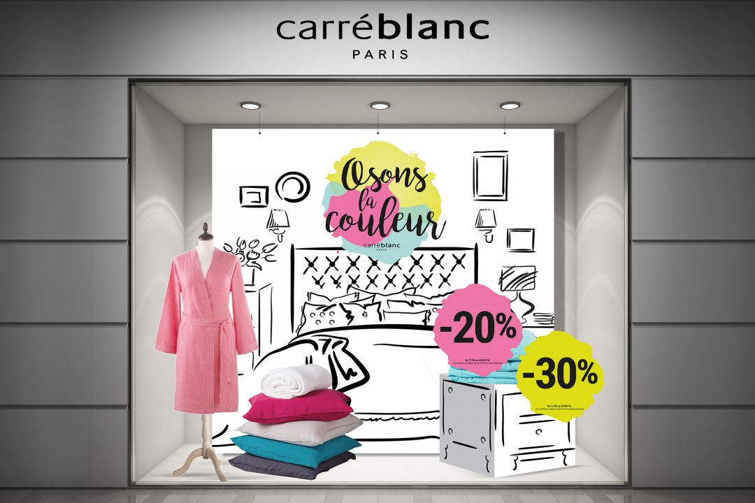 CARRE BLANC – COMMUNICATION IN-STORE