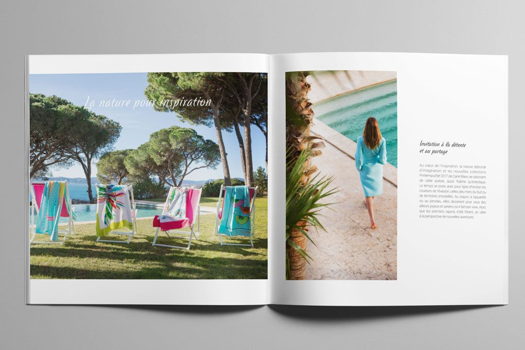 CARRÉ BLANC – CATALOGUE PRINTEMPS ÉTÉ 2017